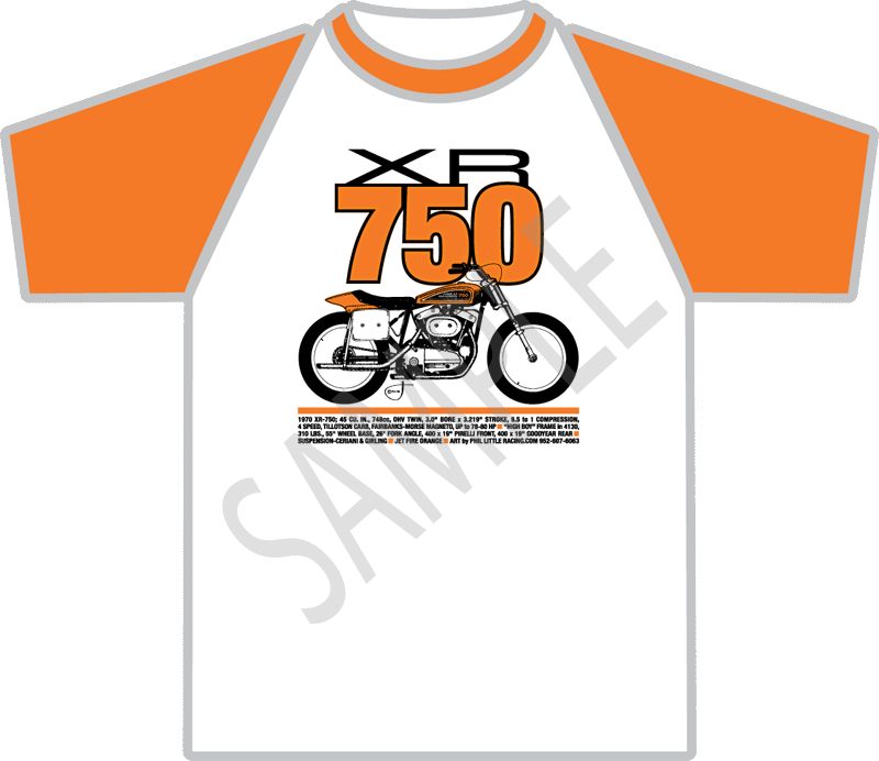 The best XR750 flat track t-shirt ever - Phil Little Racing