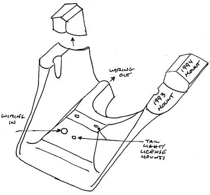 xrx street tracker seat bracket sketch 1