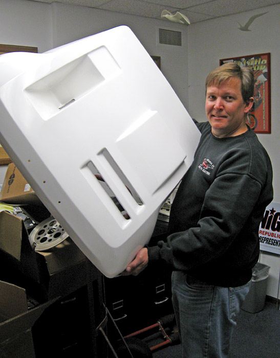 Bryan Lugert takes delivery of the first ET hood