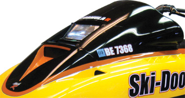 Ski-Doo  1991-94 PRS Formula Low Windshield is back